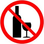 No alcohol sign on white background