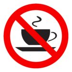 No coffee cup sign icon