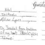 Dr. Sadaat's Guest Book Page 7