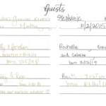 Dr. Sadaat's Guest Book Page 1
